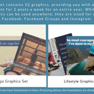 social media yoga graphics