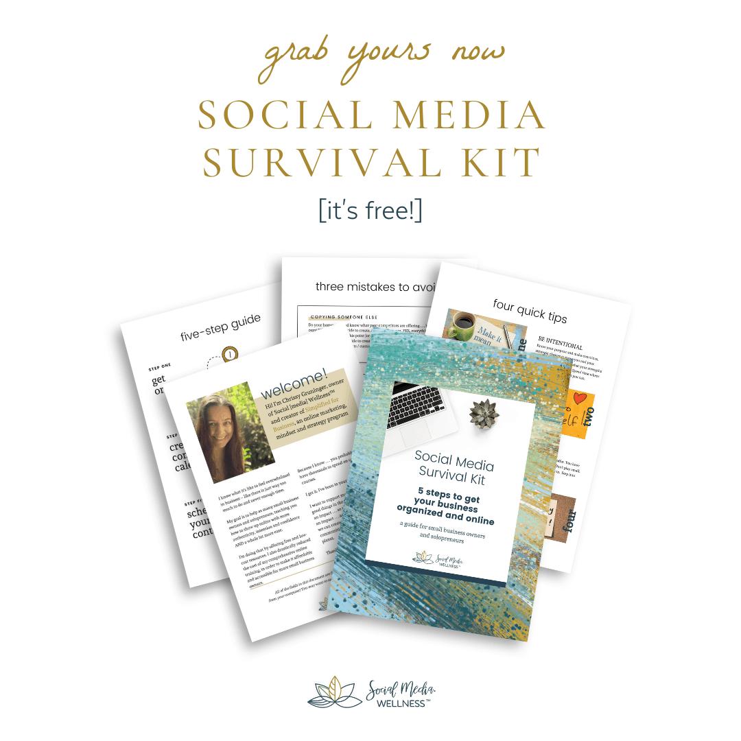 social media survival kit